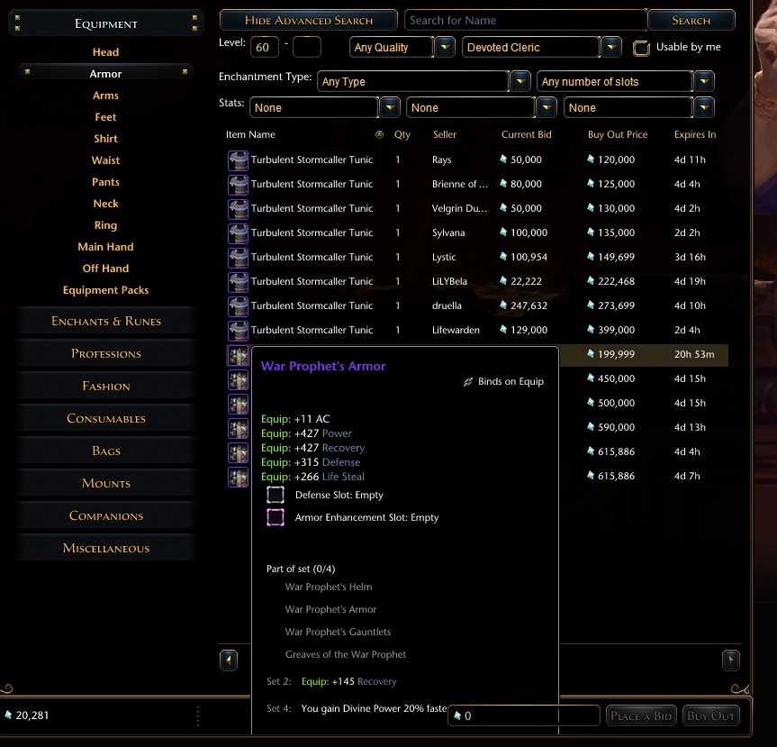 Neverwinter Auction House