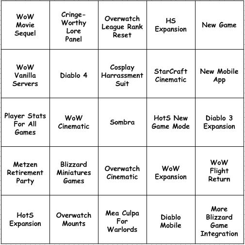 blizzcon-bingo